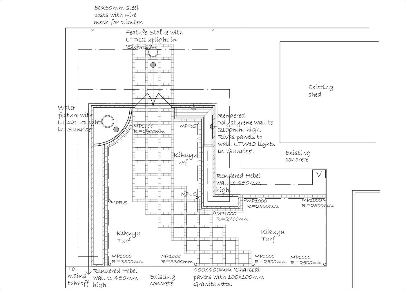 Hardscape Plan | Hand Made Gardens