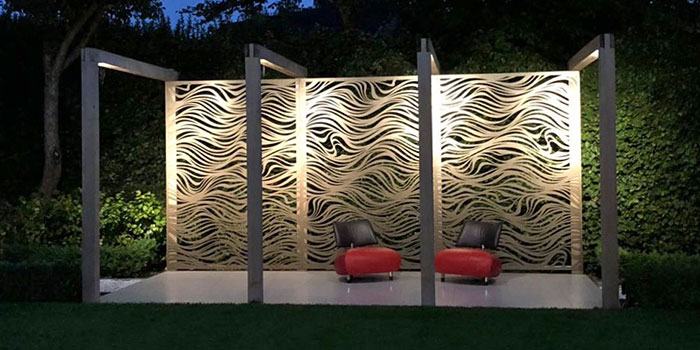Laser Cut Privacy Screens | Hand Made Gardens