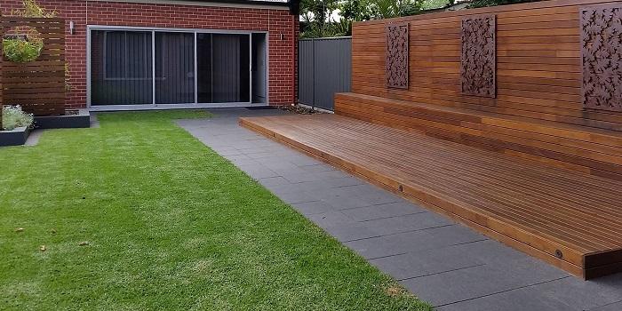 Hardwood Timber Deck | Hand Made Gardens